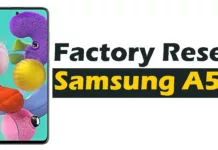 How to Hard-Factory Reset Samsung Galaxy A51