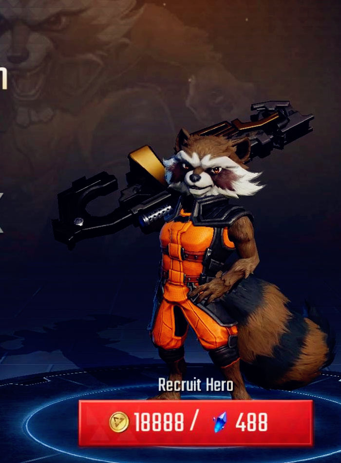 Marvel Super war Rocket Raccoon