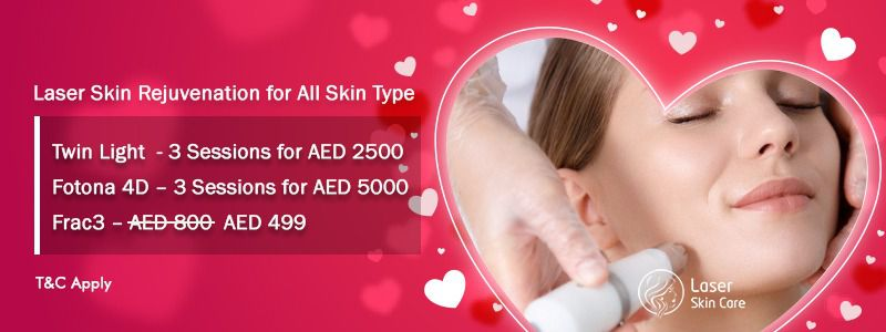 Laser Skin Rejuvenation for All Skin Type Twin Light 3 Sessions for AED 2500