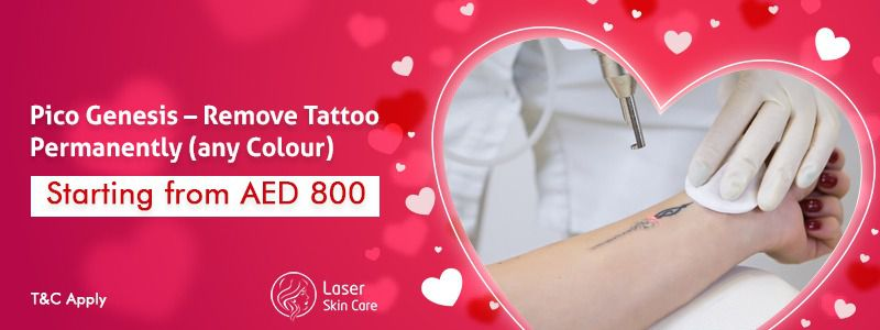 Pico genesis - Remove Tattoo Permanently (any colour) Starting From AED 800