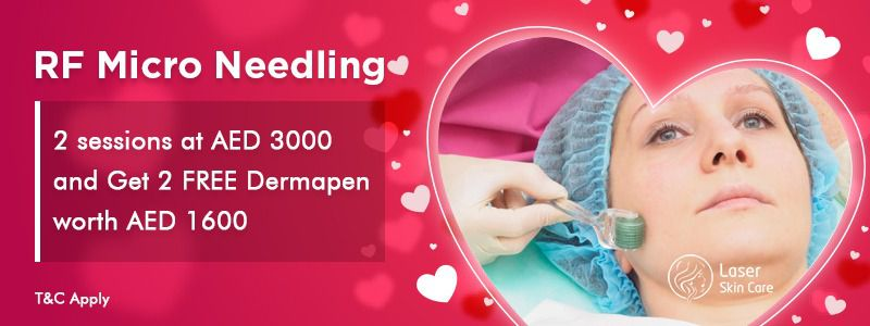 RF Micro Needling 2 Sessions at AED 3000 & get 2 free Dermapen Worth 1600