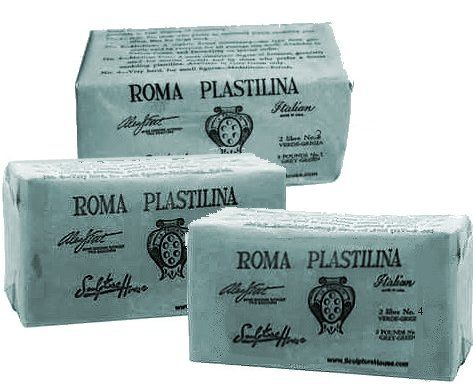 #3 Roma Plastilina Green/Grey - 20-Brick Case