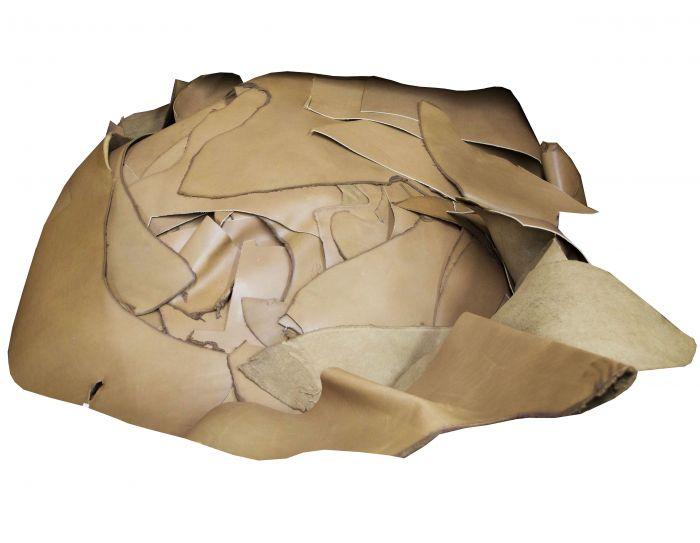 1-lb Tan leather scraps