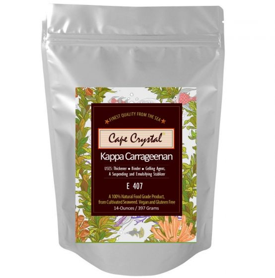 Premium Kappa Carrageenan Powder 14-oz. By Cape Crystal