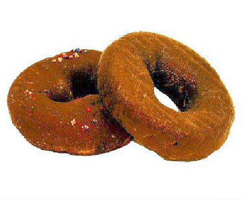 Pair of Chocolate Duncan Donuts - Faux Fake Prop