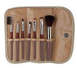 studio basic 7pc makeup brush set with case