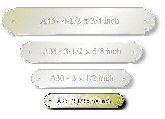 Brass Engraved Name Plate Size: 2-1/2 x 3/8