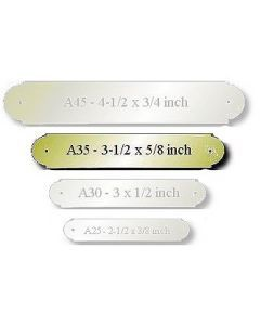 """Brass Engraved Name Plate Size: 3-1/2 x 5/8"""""""