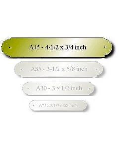 """Brass Engraved Name Plate Size: 4-1/2 x 3/4"""""""