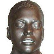 Faux Bronze Face Cast