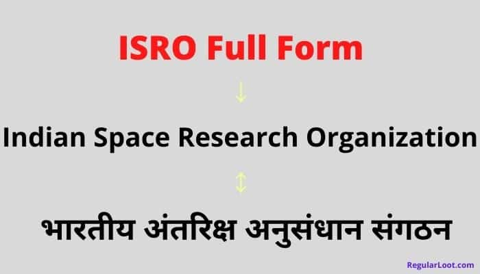 Isro Full Form in Hindi