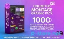 Montage Graphic Pack Titles Transitions Lower Thirds and more V8.3