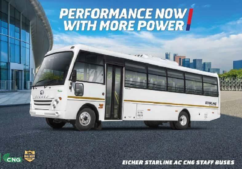 Eicher 10.90L CNG AC : Starline 37 Seater Bus