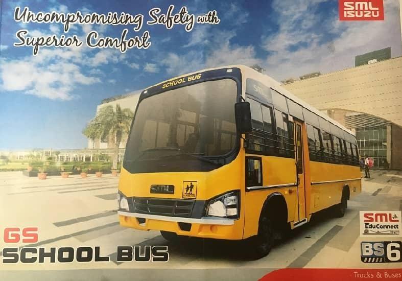 SML Isuzu GS School Bus 4240 : 30 / 42 Seater BS6 Bus