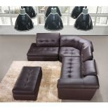 ✅ 397 Italian Leather Left Hand Facing Sectional, Chocolate | VivaSalotti.com | pic2