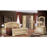 ✅ Aida Classic King Bed by ESF, Ivory and Gold | VivaSalotti.com | pic6