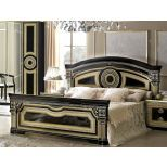 ✅ Aida Classic Queen Bed by ESF, Black and Gold | VivaSalotti.com | pic