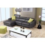 ✅ Ariana Premium Leather Left Hand Facing Sectional, Grey | VivaSalotti.com | pic6