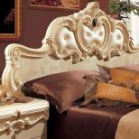 ✅ Barocco Panel Queen Bed Ivory by ESF | VivaSalotti.com | pic4