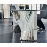 ✅ D2056DT Dining Table, Clear/Stainless Steel | VivaSalotti.com | pic6