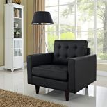 ✅ Empress Bonded Leather Armchair (Black) | VivaSalotti.com | pic