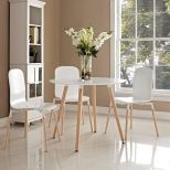 ✅ Track Round Dining Table (White) | VivaSalotti.com | pic