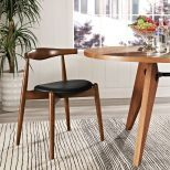 ✅ Stalwart Dining Side Chair (Dark Walnut Black) | VivaSalotti.com | pic