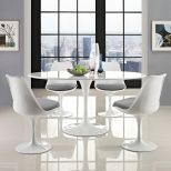 "✅ Lippa 60"" Oval Wood Top Dining Table (White) 