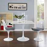"✅ Lippa 36"" Square Wood Top Dining Table (White) 