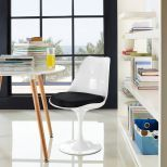 ✅ Lippa Dining Fabric Side Chair (Black) | VivaSalotti.com | pic