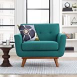 ✅ Engage Upholstered Fabric Armchair (Teal) | VivaSalotti.com | pic
