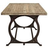 ✅ Effuse Rectangle Wood Top Dining Table (Brown) | VivaSalotti.com | pic3