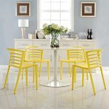 ✅ Curvy Dining Chairs Set of 4 (Yellow) | VivaSalotti.com | pic