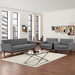 ✅ Engage Armchairs and Sofa Set of 3 (Expectation Gray) | VivaSalotti.com | pic