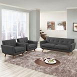 ✅ Engage Armchairs and Loveseat Set of 3 (Gray) | VivaSalotti.com | pic