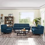 ✅ Beguile Living Room Set Upholstered Fabric Set of 3 (Azure) | VivaSalotti.com | pic