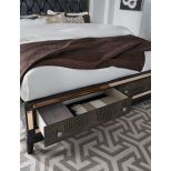 Mirror Queen Size Bed, Chocolate