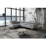 ✅ Mood Premium Leather Left Hand Facing Sectional, Grey | VivaSalotti.com | pic6