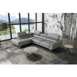 ✅ Mood Premium Leather Left Hand Facing Sectional, Grey | VivaSalotti.com | pic7