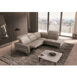 ✅ Ocean Premium Leather Motion Right Hand Facing Sectional, Grey | VivaSalotti.com | pic1