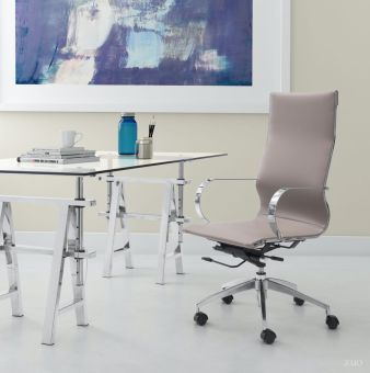 Glider High Back Office Chair Taupe