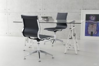 Glider Conference Chair Black