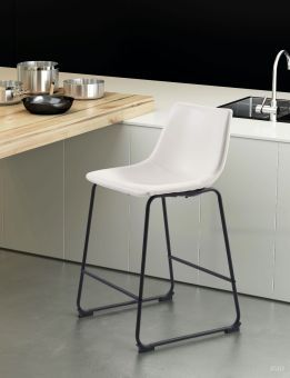 Smart Counter Chair Distressed White