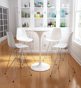 Dylan Bar Table Stone & White