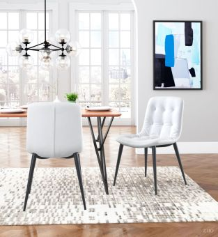 Tangiers Dining Chair White (Set of 2)