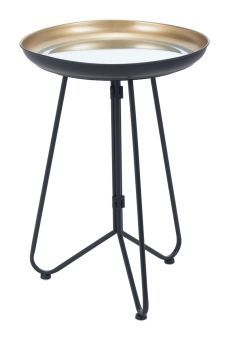 Foley Accent Table Gold & Black