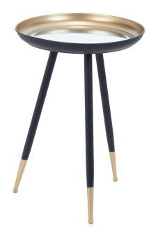 Everly Accent Table Gold & Black