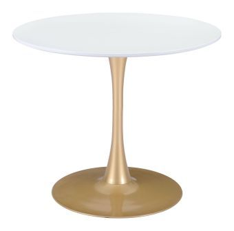 Opus Table White & Gold