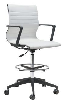 Stacy Drafter Office Chair White
