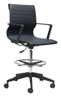 Stacy Drafter Office Chair Black